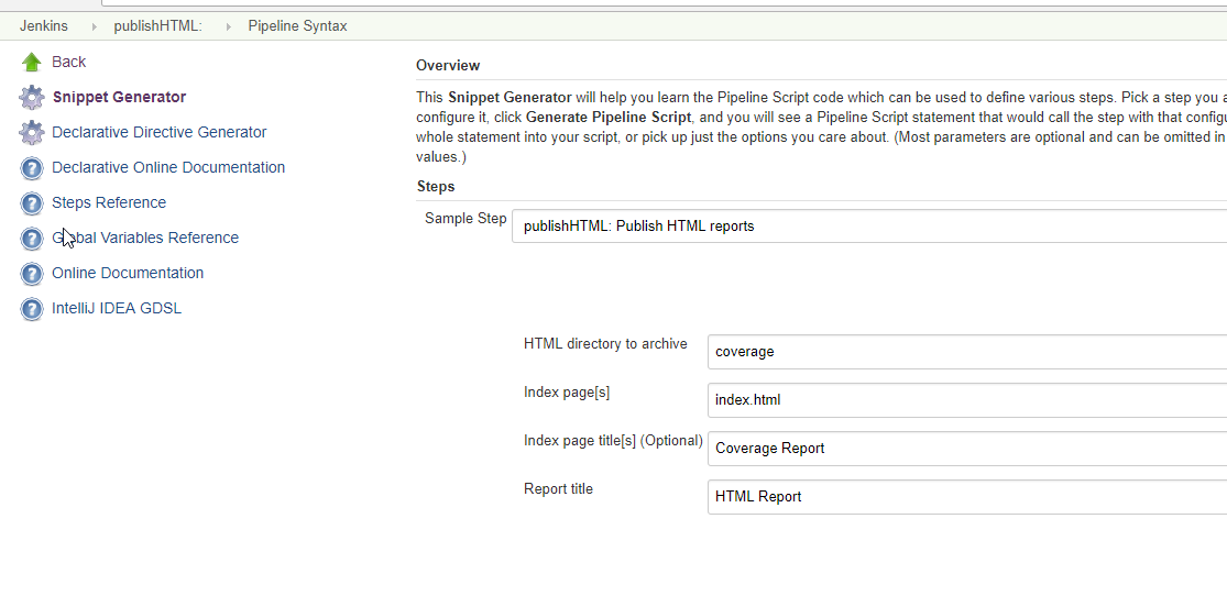 Publishing HTML Reports in Jenkins Pipeline – DevOps = IS